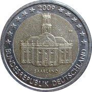 2 euros Sarre -  avers