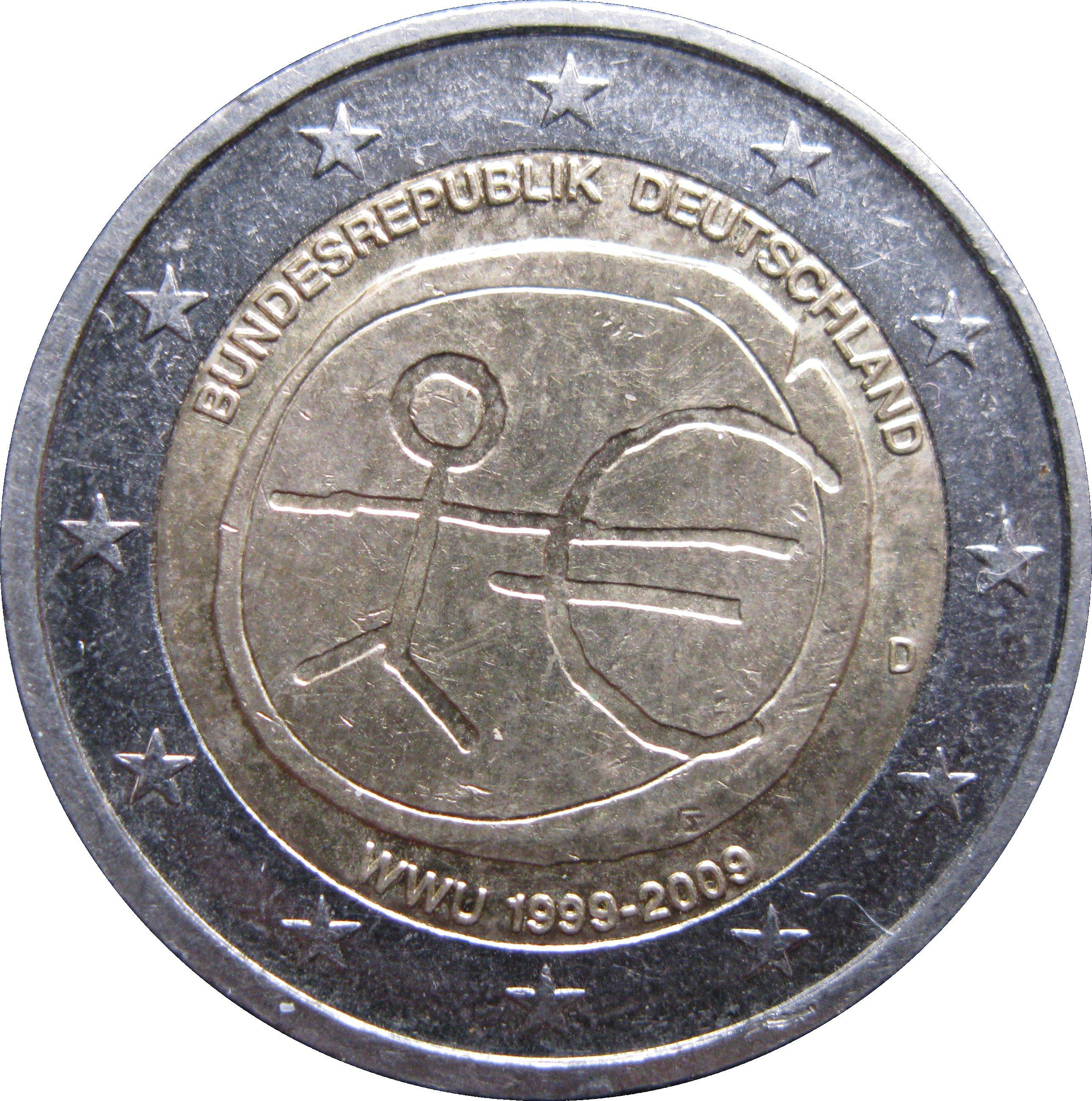 2 Euros Union économique Et Monétaire Allemagne République