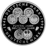 10 deutsche mark 50 ans du Deutsche Mark – revers