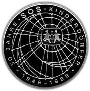 10 deutsche mark SOS Villages d'Enfants – revers