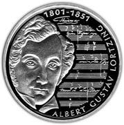 10 deutsche mark Albert Gustav Lortzing – revers