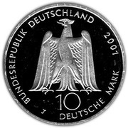 10 deutsche mark Albert Gustav Lortzing – avers