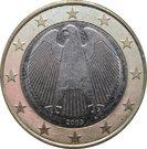 1 euro (1ère carte) – avers