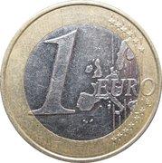 1 euro (1ère carte) -  revers