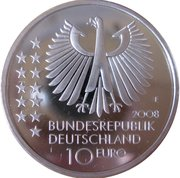 10 euros Max Planck – avers