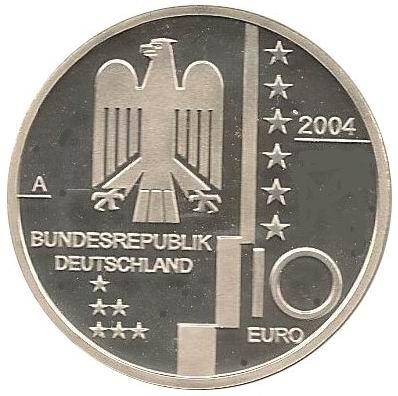 10 Euros Bauhaus Allemagne République Fédérale Numista