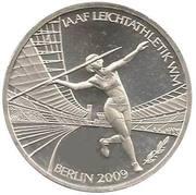 10 euros Coupe du monde d'athlétisme – revers