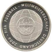 10 euros Coupe du monde 2006 (édition 2006) – revers