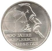 10 euros Loi de Kepler – revers