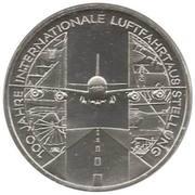 10 euros Exposition internationale de l'aviation – revers