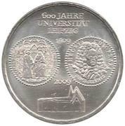 10 euros Université de Leipzig – revers
