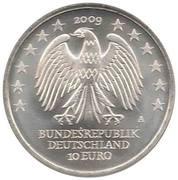 10 euros Université de Leipzig – avers