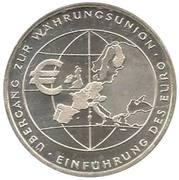 10 euros Introduction de l'euro – revers