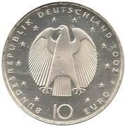 10 euros Introduction de l'euro – avers