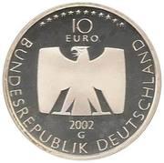 10 euros Télévision allemande – avers