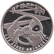 10 euros Automobile (argent) – revers