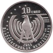 10 euros Automobile (argent) – avers
