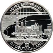 10 euros Chemins de fer – revers