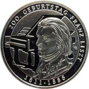 10 euros  Franz Liszt – revers