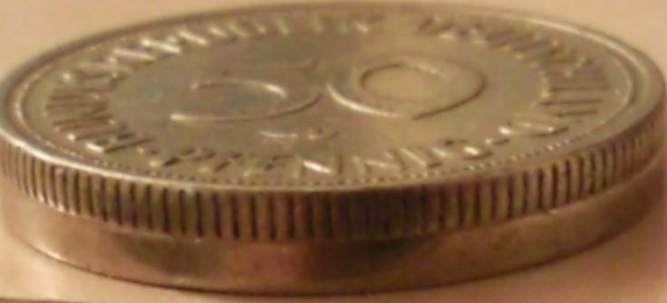 50 Pfennig Bundesrepublik Deutschland Allemagne République