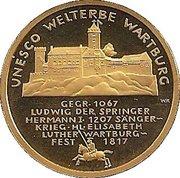 100 euros Château de la Wartbourg – revers