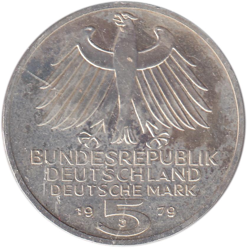 5 Deutsche Mark Institut Archéologique Allemand Allemagne