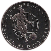 10 euros Coupe du monde de football féminin 2011 (cupronickel) -  avers
