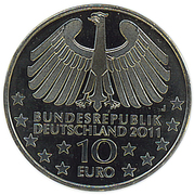 10 euros Vieux tunnel sous l'Elbe (cupronickel) – avers