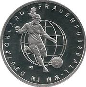 10 euros Coupe du monde de football féminin 2011 (argent) – revers