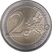 2 euros Introduction de l'euro (10 ans) -  revers