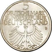 5 deutsche mark - Germanisches Museum – avers