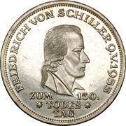 5 deutsche mark - Friedrich von Schiller – revers