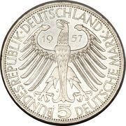 5 deutsche mark Joseph Freiherr von Eichendorff – avers