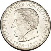 5 deutsche mark Joseph Freiherr von Eichendorff – revers