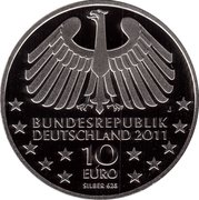 10 euros Vieux tunnel sous l'Elbe (argent) – avers
