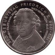10 euros Frédéric II de Prusse (cupronickel) – revers