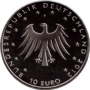 10 euros Contes des frères Grimm (cupronickel) – avers