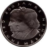 10 euros Contes des frères Grimm (cupronickel) – revers