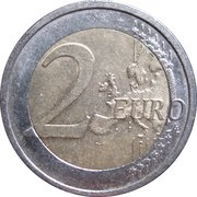 2 euros Rhénanie-du-Nord-Westphalie – revers