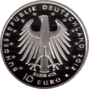 10 euros Frédéric II de Prusse (argent) – avers