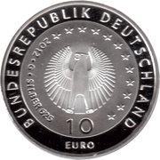 10 euros Welthungerhilfe (argent) – avers