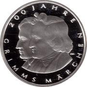10 euros Contes des frères Grimm (argent) – revers