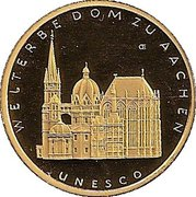 100 euros Cathédrale d'Aix-la-Chapelle – revers