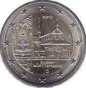 2 euros Bade-Wurtemberg -  avers