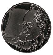 10 euros Gerhart Hauptmann (argent) – revers