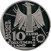 10 euros Bibliothèque nationale allemande (argent) – avers