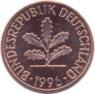 2 pfennig (acier plaqué bronze) – avers