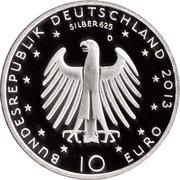 10 euros Richard Wagner (argent) – avers