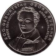 10 euros Georg Büchner (cupronickel) -  revers