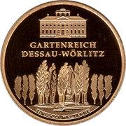 100 euros Jardins de Dessau-Wörlitz – revers